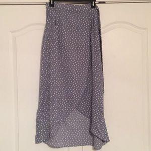 wrap style maxi skirt